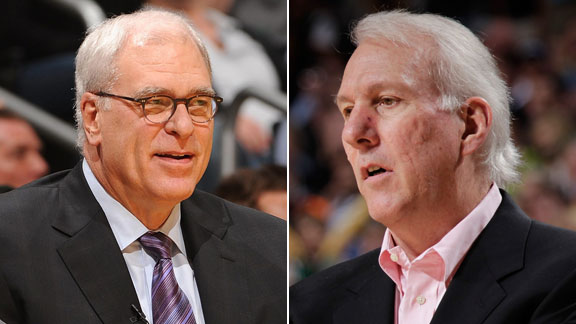 Phil Jackson and Gregg Popovich