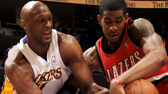 Lamar Odom and LaMarcus Aldridge