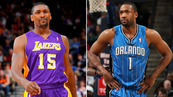 Ron Artest and Gilbert Arenas