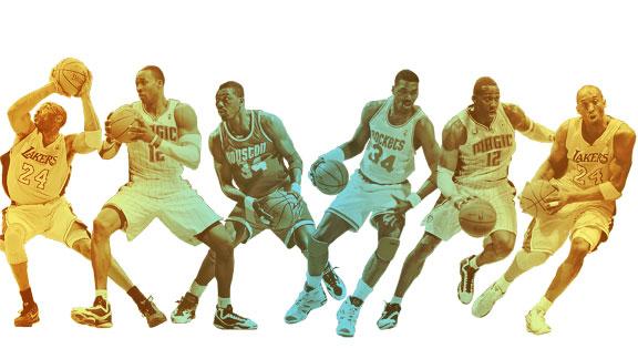 Hakeem Olajuwon, Dwight Howard, Kobe Bryant