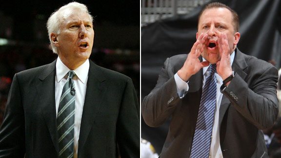 Gregg Popovich and Tom Thibodeau