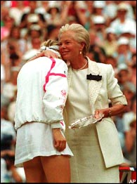 Jana Novotna & the Duchess of Kent