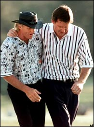 Greg Norman & Nick Faldo
