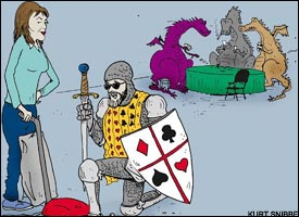 The poker knight