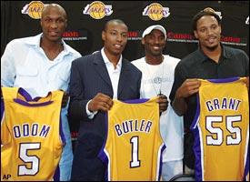 Lamar Odom, Caron Butler, Kobe Bryant & Brian Grant