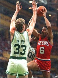 Larry Bird & Julius Erving