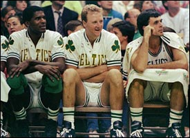 Robert Parish, Larry Bird & Kevin McHale