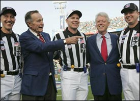 George Bush & Bill Clinton