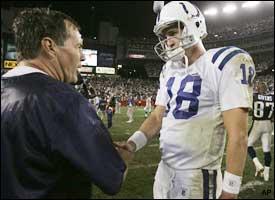 Bill Belichick, Peyton Manning