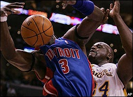 Ben Wallace, Shaquille O'Neal