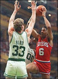 Larry Bird, Julius Erving