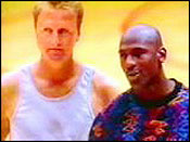 Larry Bird, Michael Jordan