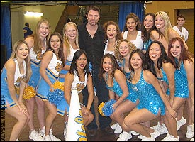 Tim Daly, UCLA cheerleaders