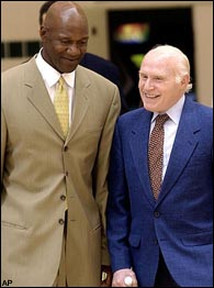 Terry Porter and Herb Kohl