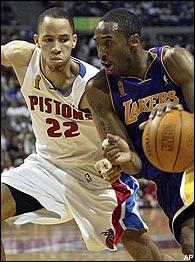 Tayshaun Prince, Kobe Bryant