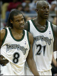 Latrell Sprewell and Kevin Garnett
