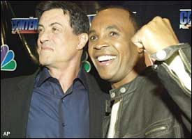 Sylvester Stallone and Sugar Ray Leonard