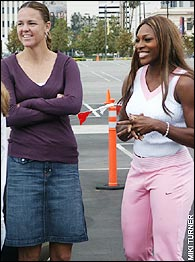 Lindsay Davenport, Serena Williams