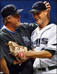 Lou Piniella and Doug Waechter