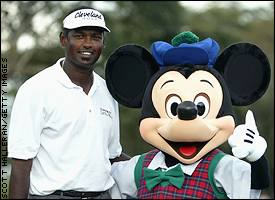 Vijay Singh and Mickey Mouse
