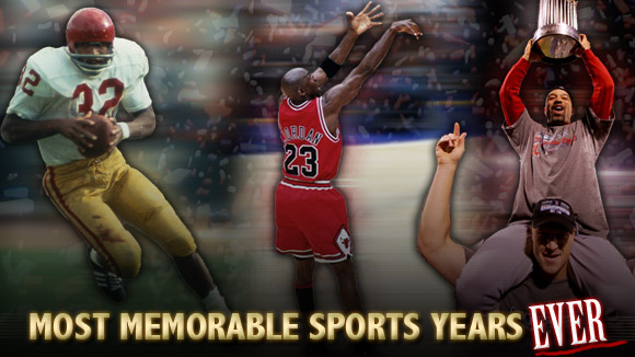 Most memorable sports years