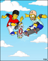 Homer and Tony Hawk