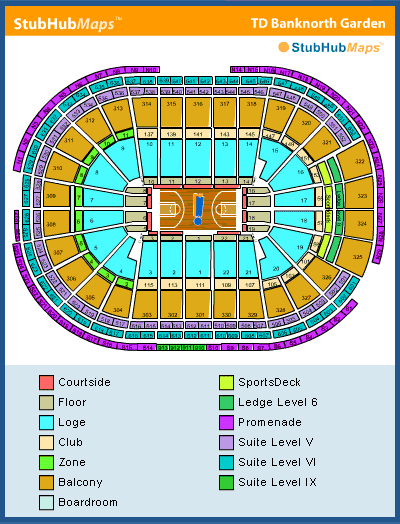 Td Garden Seating Chart Pictures Directions And History Boston Celtics Espn