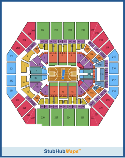 Bankers Life Fieldhouse Seating Chart Pictures
