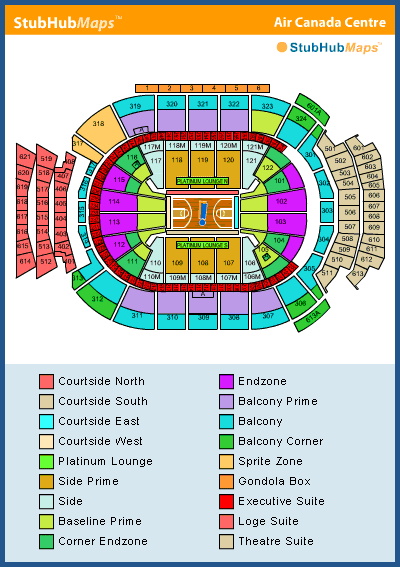 Air Canada Centre Seating Chart Pictures Directions And History Toronto Raptors Espn