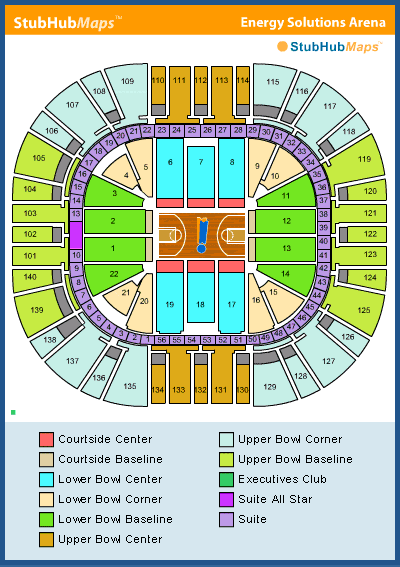 Energy Solutions Arena Seating Chart  Vivint Smart Home
