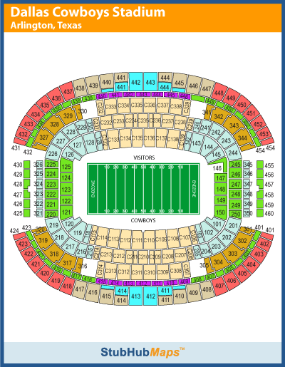 AT&T Stadium Seating Chart, Pictures, Directions, and ...