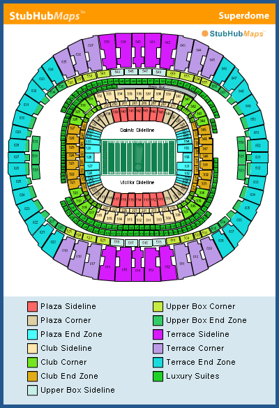 mercedes benz superdome football seating chart