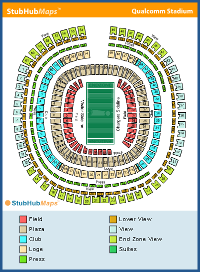Qualcomm Stadium Seating Chart Chargers Animal Boarding