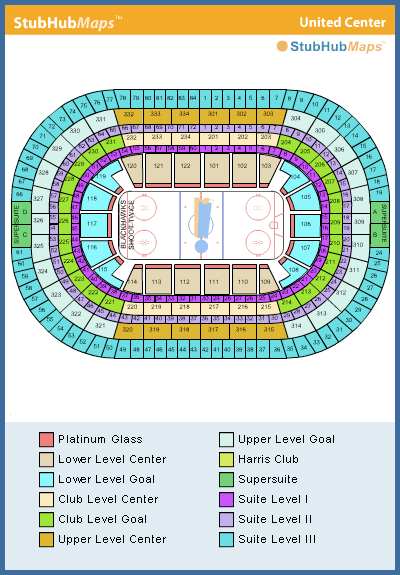 United Center Seating Chart Pictures Directions And