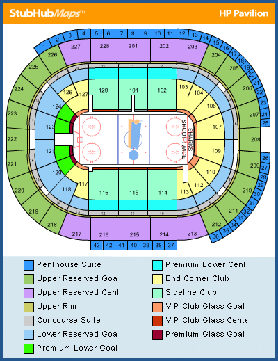 Sharks seating chart / Nyc marinas on hp center map, xcel center map, nokia center map, embarcadero center map, us airways center map, peachtree center map, nrg center map, oracle center map, moda center map, san jose event center map, at&t center map, verizon center map, first niagara center map,