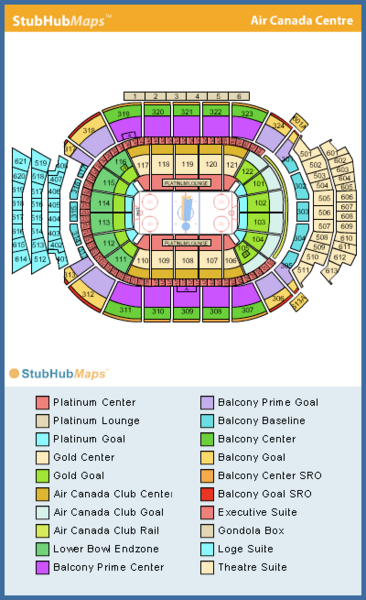 acc leafs game seating chart