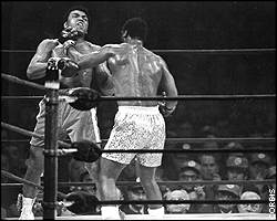 Muhammad Ali (left)/Joe Frazier