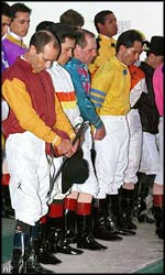 Jockeys honor Antley