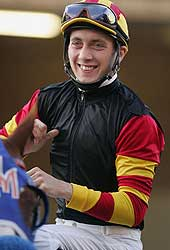 Michael Baze in 2006 before the Hollywood Turf Cup, one of the highlights of the Hollywood Park meet