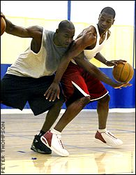Theron Smith and Dwyane Wade