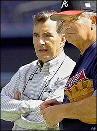John Schuerholz and Bobby Cox