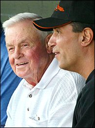 Lee Mazzilli and Earl Weaver