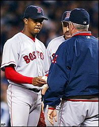 Pedro Martinez and Grady Little