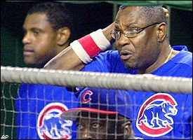 Sammy Sosa and Dusty Baker