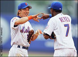 Kaz Matsui and Jose Reyes
