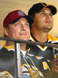 Curt Schilling, left, and Keith Foulke.