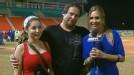 Carolina Guill�n entrevista al pelotero tras ganar la Serie del Caribe 2011 en Mayag�ez.