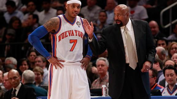 Woodson: Amare, Carmelo run Knicks' offense