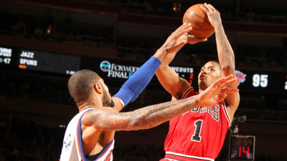 Source: Bulls' Rose hurt ankle vs. Knicks