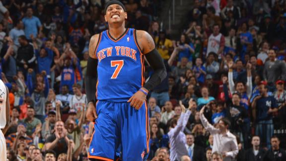 Video - Melo Starts Hot as Knicks Beat Nets